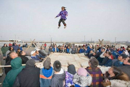 Blanket toss, Barrow. Source: Alaskakids.org