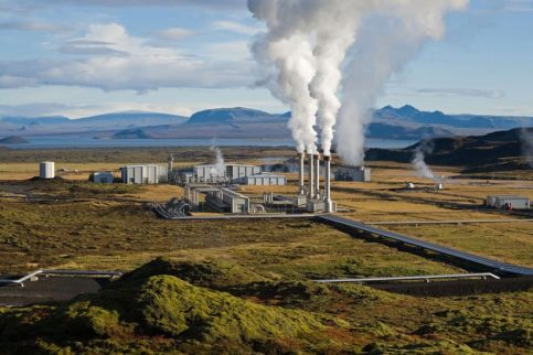 Geothermal plant in Iceland.  Source: savingiceland.org