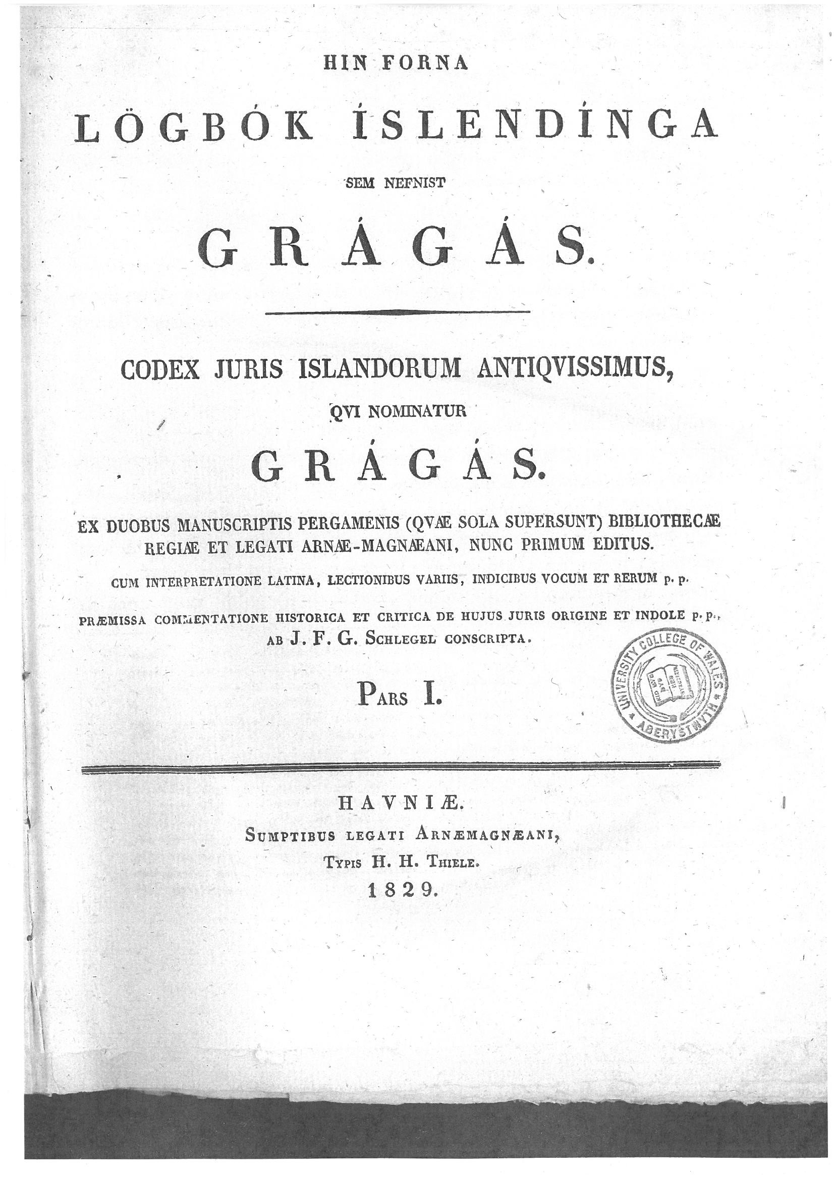 Iceland's Grey Goose Laws - Gragas, so-named for the grey goose quills used to record them or the skin in which they were wrapped. They date between 980-1260 and offer an insight into social and economic activities in Iceland