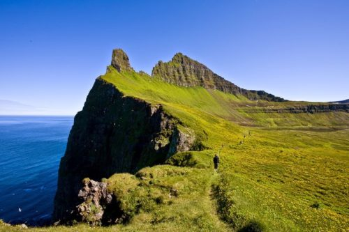 Hornstrandir, where Thorsgeir clung onto the angelica roots so as not to fall. Courtesy: Islande24