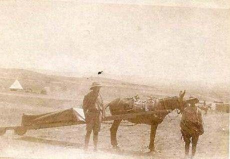 Field ambulance in Salonika, 1916. Source: Health History@Huddersfield University.