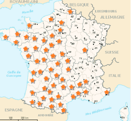 Asian Hornet findings in France, 2013. Source: OPERA Research Center; Bee Health in Europe