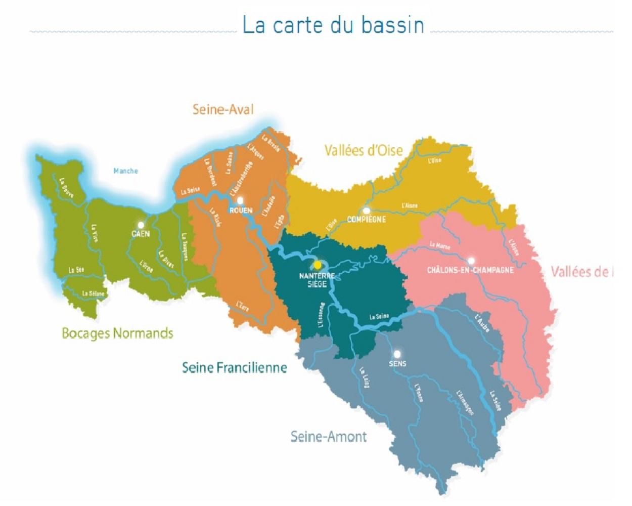 La carte du bassin de la Seine - Copy