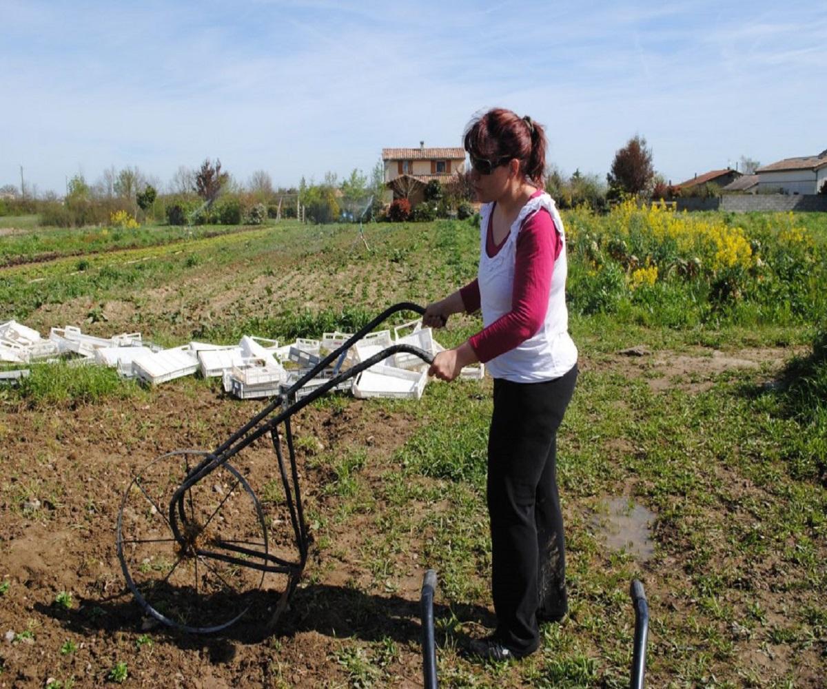 Corinne Delhom, market gardener in the Haute-Garonne.  Photo: La Ruche qui dit Oui